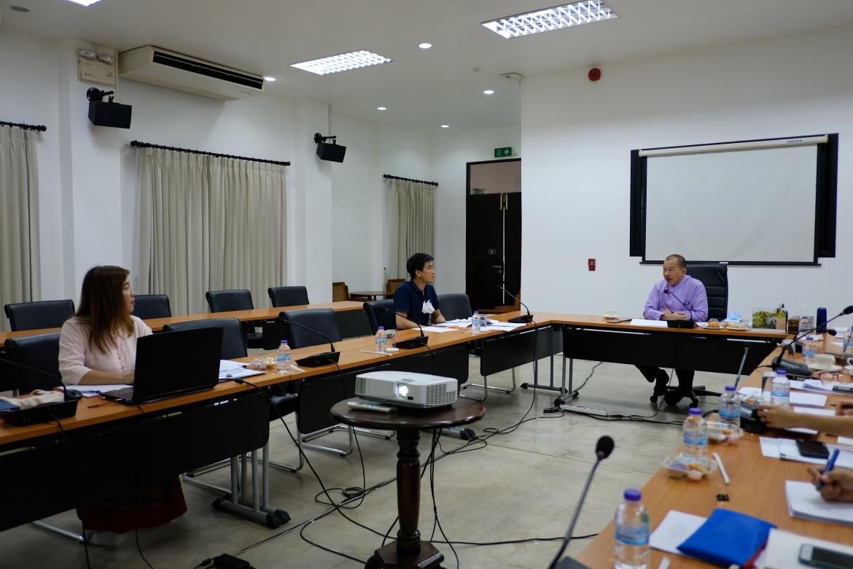 การประชุมงานจ้างปลูกสร้างเรือนฝาไหล (เรือนแม่นายคำเที่ยง) ครั้งที่ 5/2563