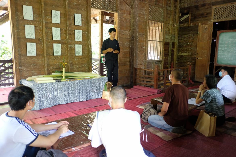 อบรมหลักสูตรระยะสั้นการทำเทียนในพิธีกรรม (ทำต้นผึ้งเเละต้นเทียน) วันที่ 30 กรกฎาคม 2563