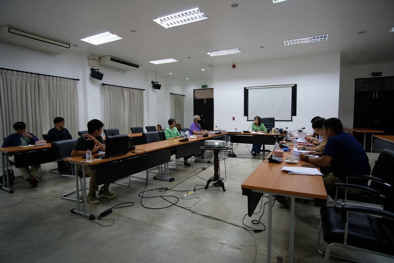 การประชุมคณะกรรมการตรวจรับพัสดุและผู้ควบคุมงาน งานจ้างปรับปรุงซ่อมแซมเรือนกาแล (อุุ๊ยผัด) ครั้งที่ 4/2563