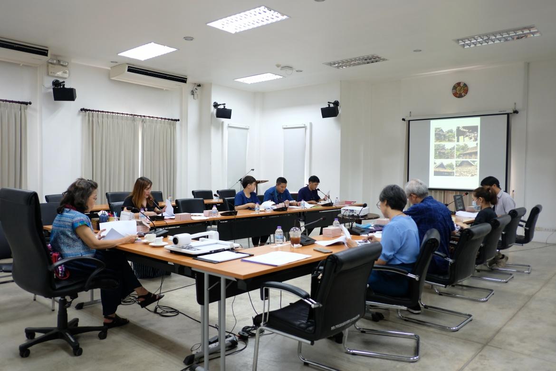 การประชุมคณะกรรมการตรวจรับพัสดุ (กรณีตรวจงานจ้างก่อสร้าง) งานจ้างปรับปรุงซ่อมแซมเรือนไทลื้อ (หม่อนตุด) ครั้งที่ 2/2563