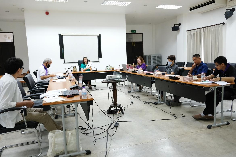 การประชุมคณะกรรมการตรวจรับพัสดุ (กรณีตรวจงานจ้างก่อสร้าง) งานจ้างปรับปรุงซ่อมแซมเรือนไทลื้อ (หม่อนตุด) ครั้งที่ 3/2563 และงานจ้างเคลื่อนย้ายหลองข้าวสารภี ครั้งที่ 1/2563