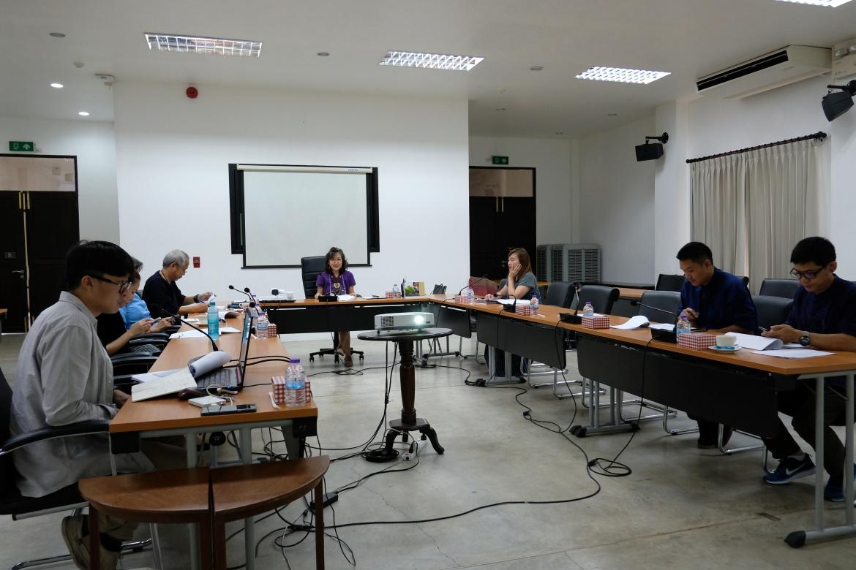 การประชุมคณะกรรมการตรวจรับพัสดุ (กรณีตรวจงานจ้างก่อสร้าง) งานจ้างเคลื่อนย้ายหลองข้าวสารภี ครั้งที่ 2/2563
