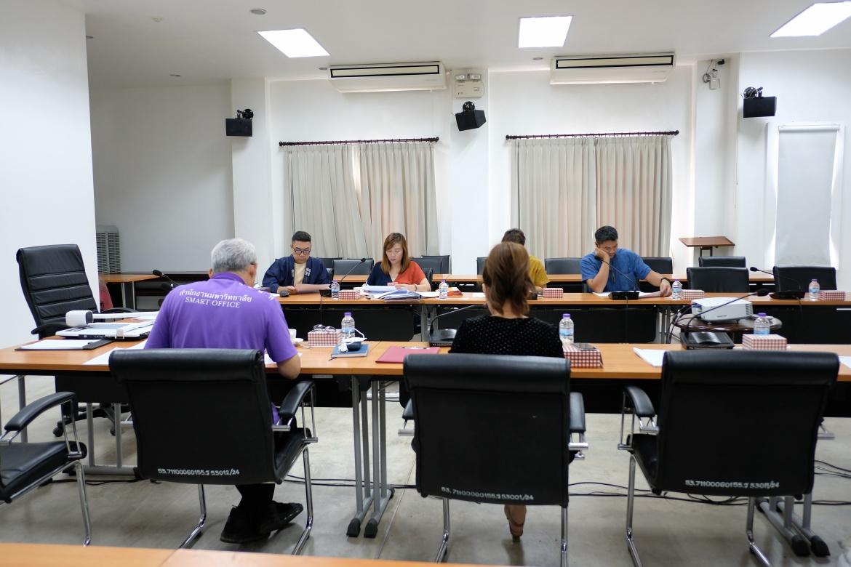 การประชุมคณะกรรมการตรวจรับพัสดุ (กรณีตรวจงานจ้างก่อสร้าง) งานจ้างเคลื่อนย้ายหลองข้าวสารภี ครั้งที่ 3/2563