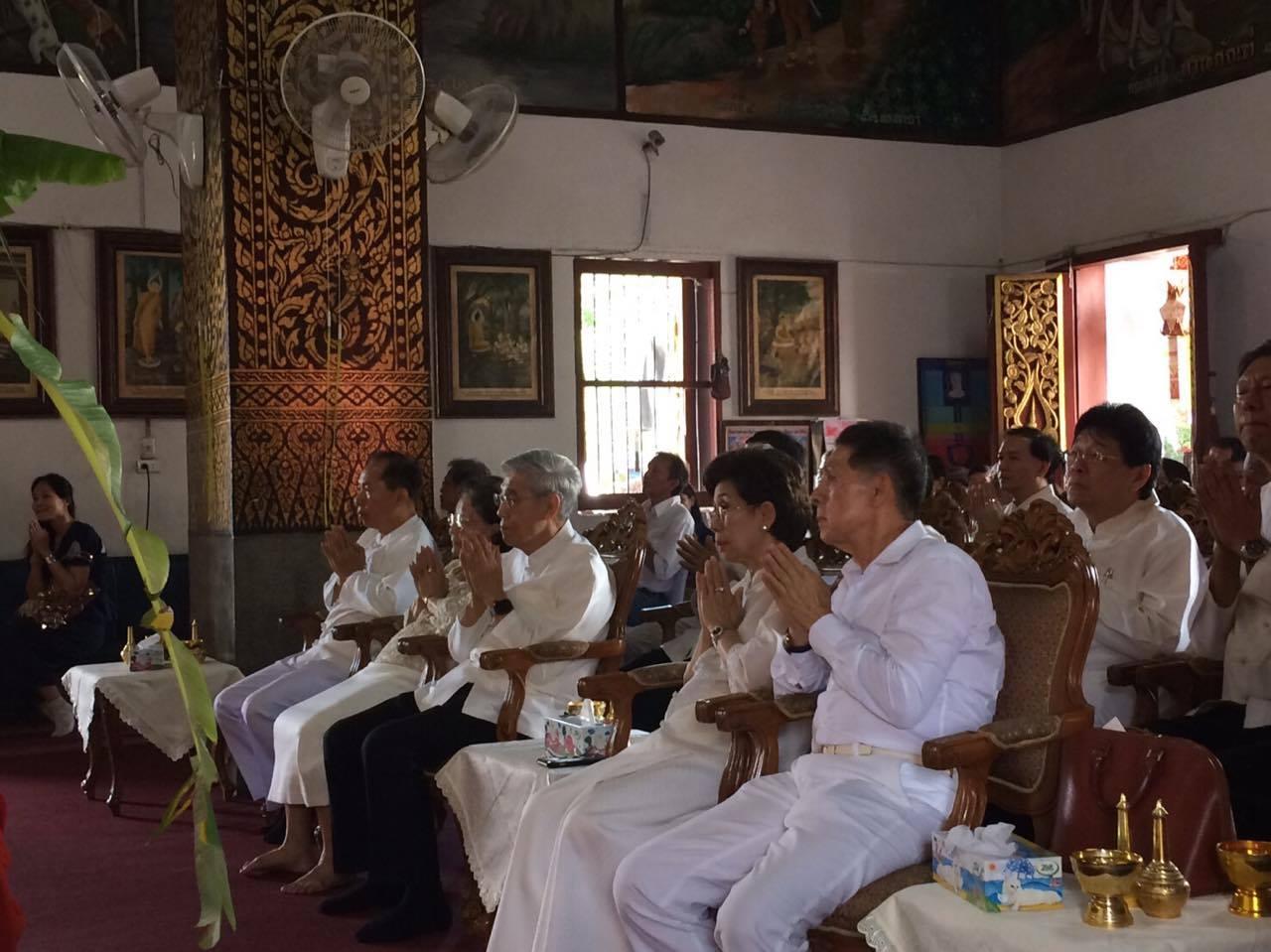 เข้าร่วมพิธีมหาพุทธาภิเษกพระพุทธหริภุญไชยสุภมงคล พระพุทธรูปประจำมหาวิทยาลัยเชียงใหม่