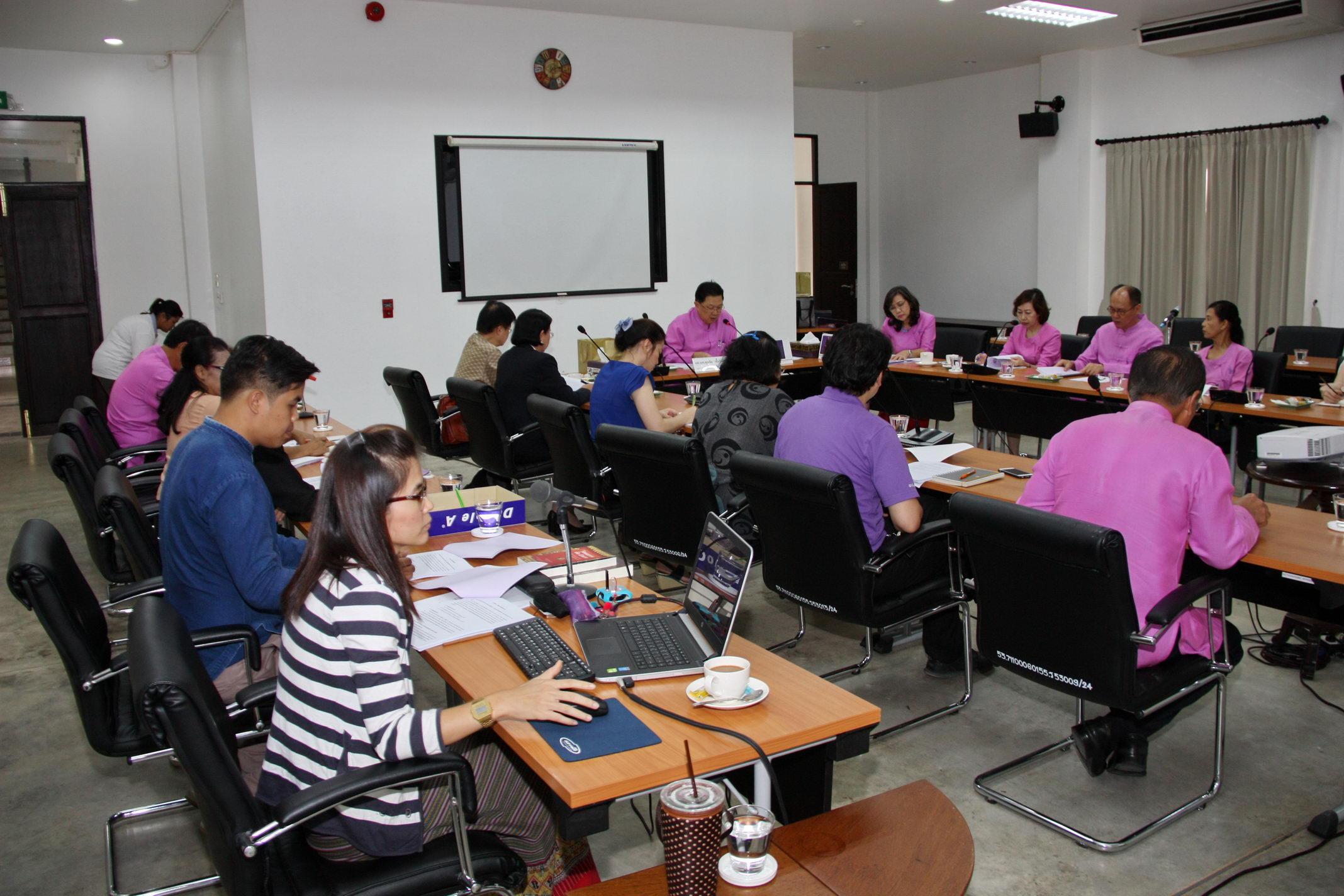 การประชุมคณะกรรมการอำนวยการโครงการล้านนาคดีศึกษา มหาวิทยาลัยเชียงใหม่ ครั้งที่ 1/2559