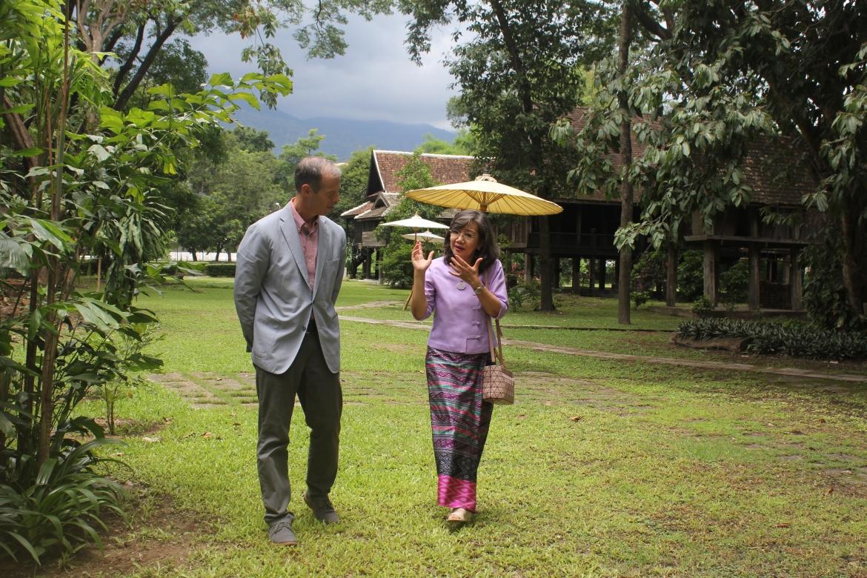 ต้อนรับที่ปรึกษาฝ่ายสื่อมวลชนและวัฒนธรรม สถานเอกอัครราชทูตสหรัฐอเมริกาประจำประเทศไทย พร้อมคณะ