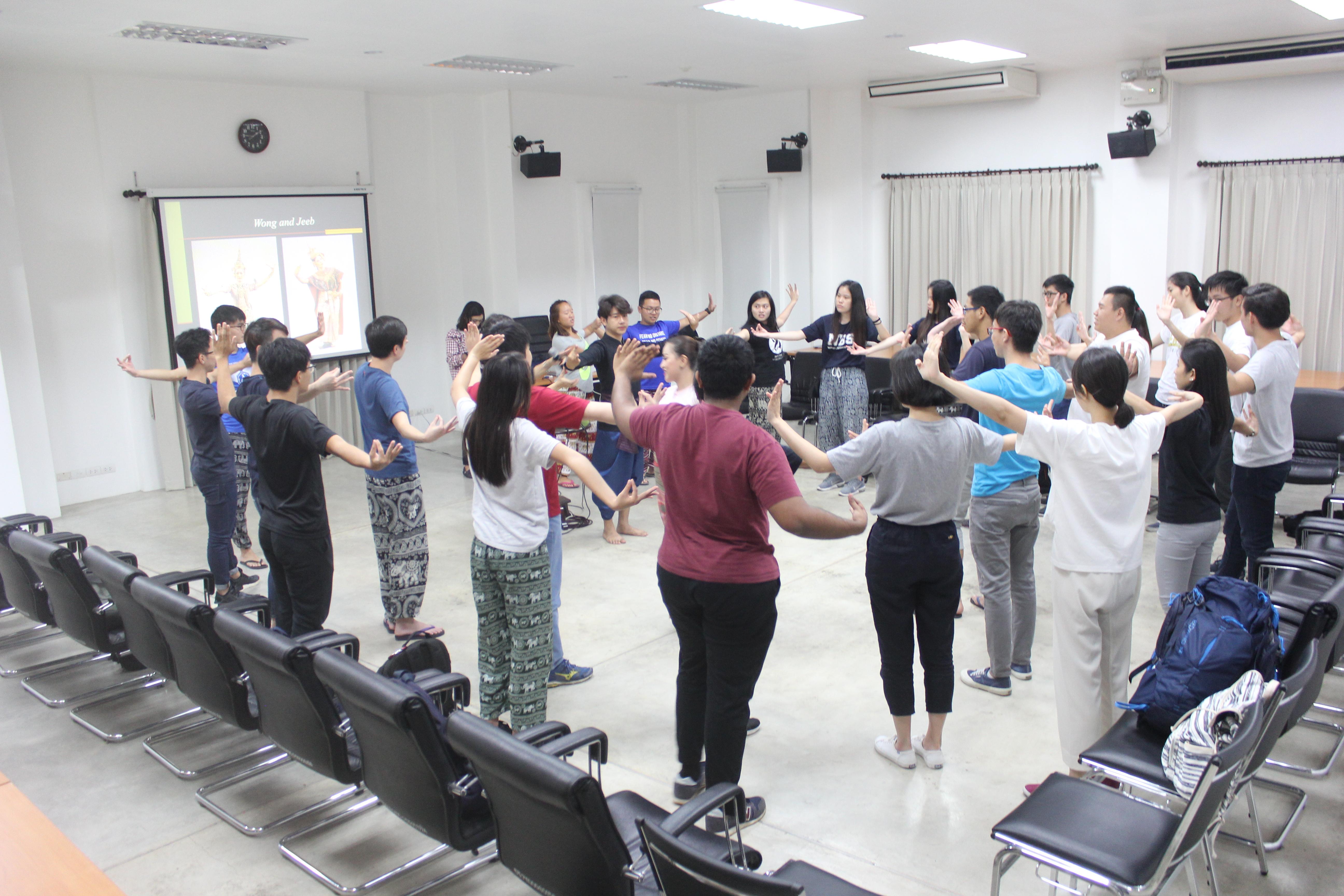 กิจกรรมบรรยายด้านศิลปวัฒนธรรมแก่นักศึกษา Nanyang Technological University