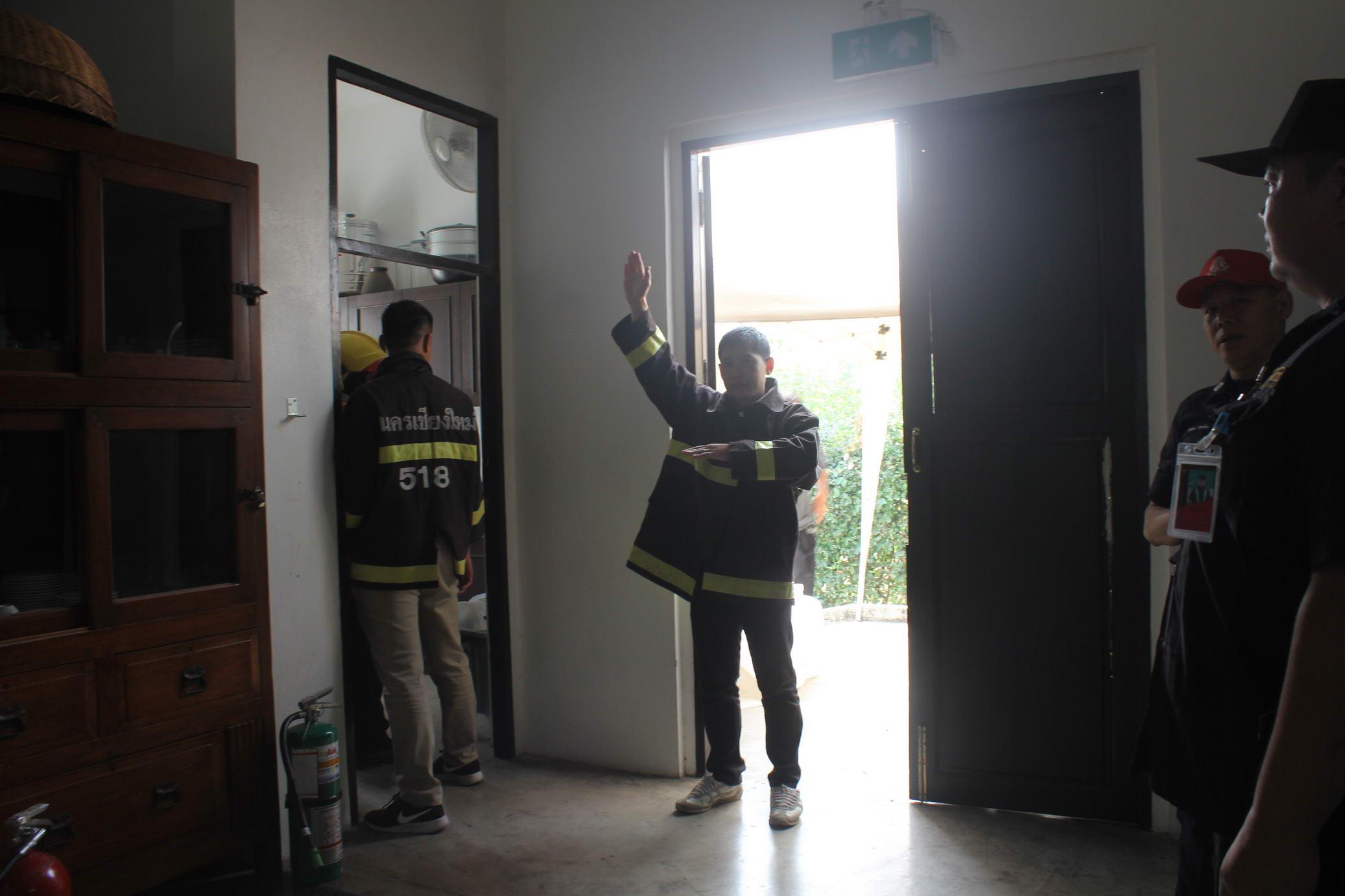 โครงการอบรมเชิงปฏิบัติการการฝึกซ้อมตามแผนฉุกเฉินเพื่อป้องกันและระงับเหตุอัคคีภัยและแผ่นดินไหว