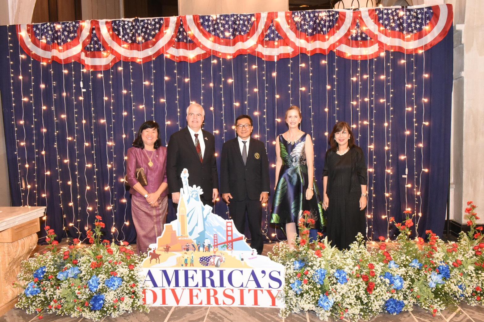 ร่วมงานครบรอบ 243 ปี วันชาติสหรัฐอเมริกา (The 243rd Anniversary of the Independence of the United State of America)