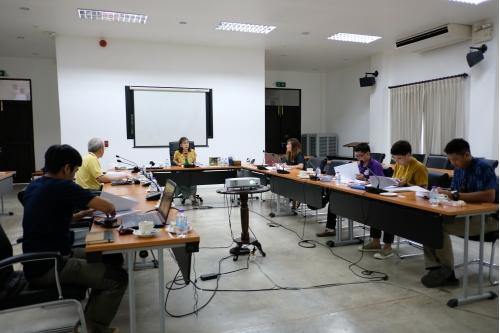 การประชุมคณะกรรมการตรวจรับพัสดุและผู้ควบคุมงาน งานจ้างปรับปรุงซ่อมแซมเรือนกาแล (อุุ๊ยผัด) ครั้งที่ 2/2563