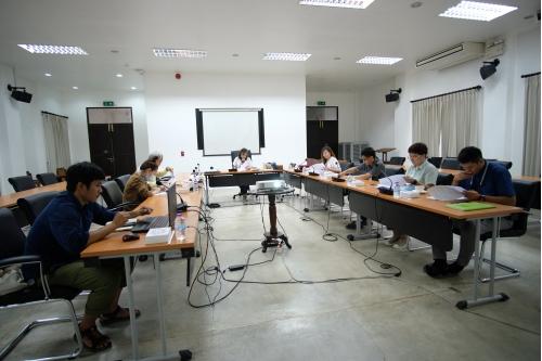 การประชุมคณะกรรมการตรวจรับพัสดุและผู้ควบคุมงาน งานจ้างปรับปรุงซ่อมแซมเรือนกาแล (อุุ๊ยผัด) ครั้งที่ 3/2563