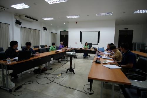 การประชุมคณะกรรมการตรวจรับพัสดุและผู้ควบคุมงาน งานจ้างปรับปรุงซ่อมแซมเรือนไทลื้อ (หม่อนตุด) ครั้งที่ 1/2563