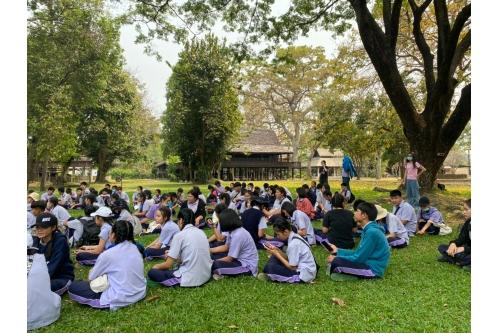 คณะครูและนักเรียนจากโรงเรียนแม่แจ่ม เข้าทัศนศึกษา ณ พิพิธภัณฑ์เรือนโบราณล้านนา มช.
