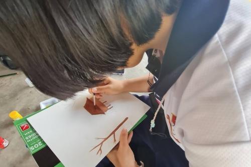 วิทยาลัยอาชีวะศึกษาจันทรวี นำนักศึกษาเข้าทำกิจกรรมวาดภาพ ณ พิพิธภัณฑ์เรือนโบราณล้านนา มช.