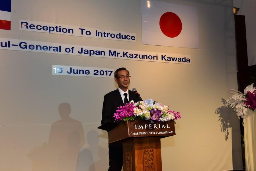 ร่วมงานเลี้ยงต้อนรับ Mr.Kazunori Kawada กงสุลใหญ่ญี่ปุ่น ณ นครเชียงใหม่ เมื่อวันที่ 15 มิถุนายน 2560