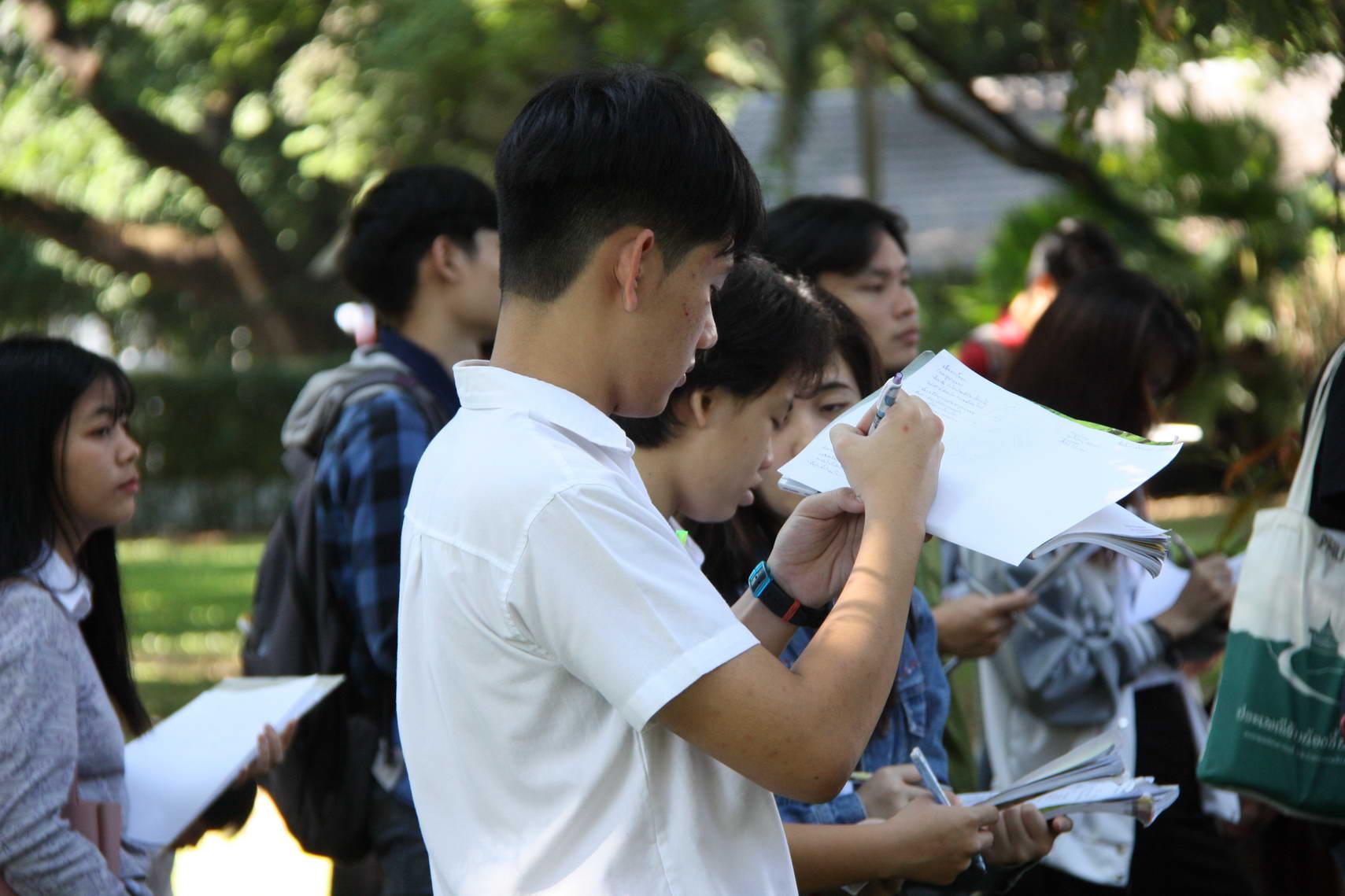 ให้การต้อนรับ อ.ดร.แผ่นดิน อุนจะนำ และนักศึกษาคณะสถาปัตยกรรมศาสตร์ มช.