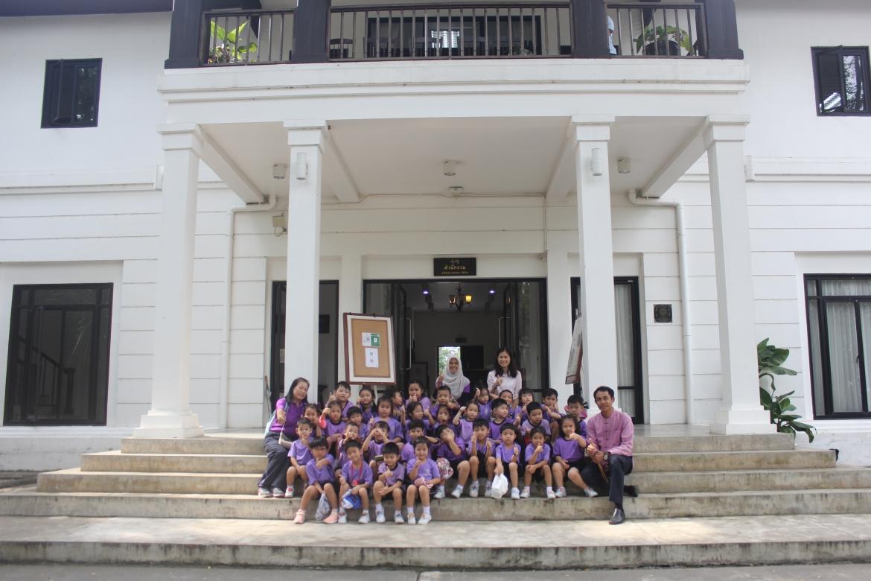 คณาจารย์และนักเรียนจากโรงเรียนสาธิตมหาวิทยาลัยราชภัฏเชียงใหม่ เข้าเยี่ยมชมพิพิธภัณฑ์เรือนโบราณล้านนา มช.