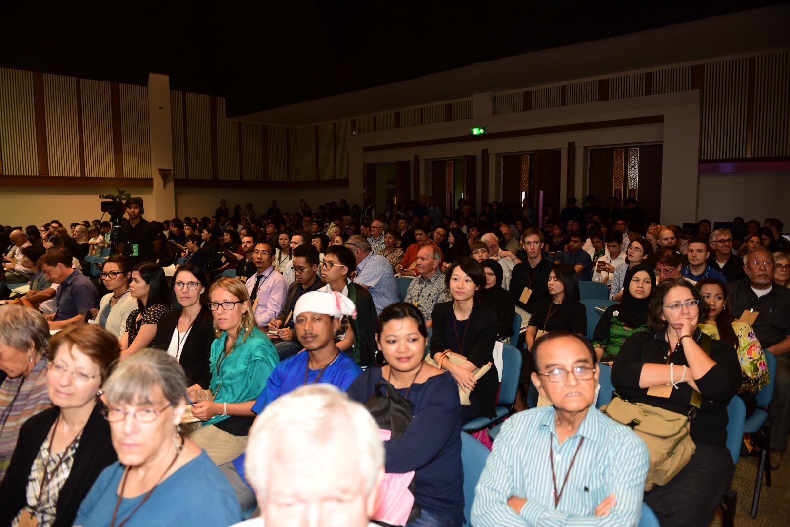พิธีเปิดการประชุมวิชาการนานาชาติไทยศึกษา ครั้งที่ 13 เมื่อวันที่ 15 กรกฎาคม 2560