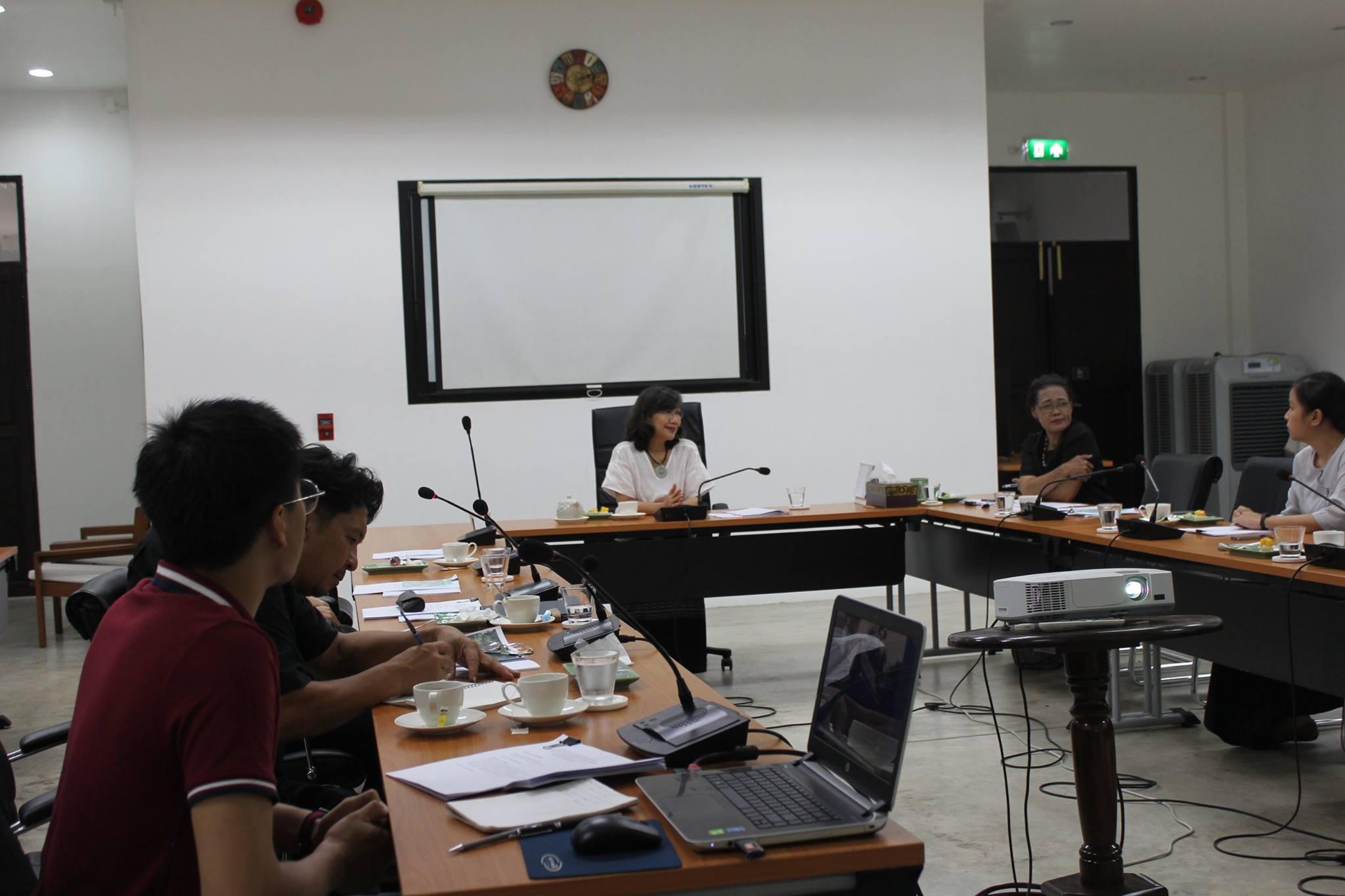 ประชุมคณะกรรมการตรวจรับพัสดุในโครงการอนุรักษ์หลองข้าวป่าซาง จังหวัดลำพูน ครั้งที่ 4/2560 เมื่อวันที่ 29 มิถุนายน 2560
